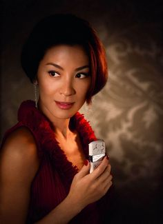 Cherry as Michelle Yeoh (undercover?)