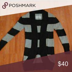 Aeropostale long cardigan/sweater xs Gorgeous, Aeropostale brand. comfortable,warm long style cardigan/sweater. NICE condition like New size xs. Light and dark grey. Aeropostale Sweaters Cardigans
