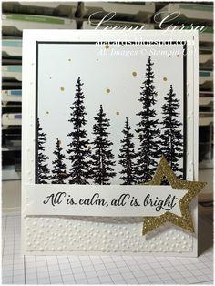by Leena: Wonderland, Winter Wonderland dsp, Softly Falling embossing folder, Stars framelits, & more - all from Stampin' Up!