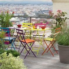 mobilier de jardin bistro de fermob chez botanic - Salon De Jardin Mtal Color