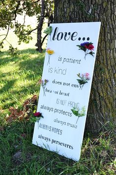 Love is patient, love is kind ... DIY Wedding Signage How-To (Plus FREE Templates!)