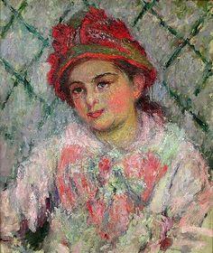 Portrait de jeunesse de Blanche Hoschedé (C Monet - W 619),1880.