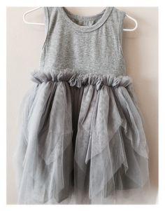 Soft Gray Flowing Dress