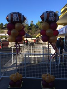 Game Day Football Decor. #Football #Balloons #BalloonsSimiValley #TouchDown #KickOff #FootballParty #SimiValley #Moorpark #ThousandOaks