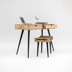Mesa en roble, Oficina, tocador, escritorio, clásico, mediados de siglo, Moderno, Tantik.