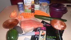 Enfin voilà la recette des sushis et makis façon tupperware. Ingrédients et matériels : Pour la préparation de votre riz il vous faudra : - le cuiseur de riz tupperware - les grandes et petite s cuillères mesures -250ml de riz spécial sushis - 350 ml...