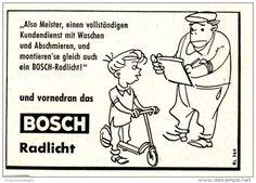 Original-Werbung/ Anzeige 1959 - BOSCH RADLICHT - ca. 60 x 45 mm