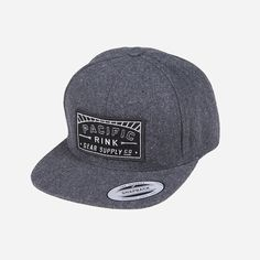 Pacific Sunset Woolly Snapback // Black and White Patch