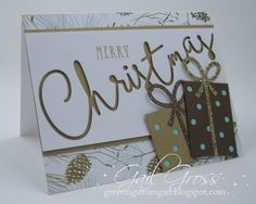 The Christmas Thin Cut Die from CTMH is definitely a focal point on a project - it just fits across the width of a standard card! The c...