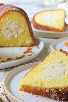 Coconut-Filled Lemon Cake Recipe