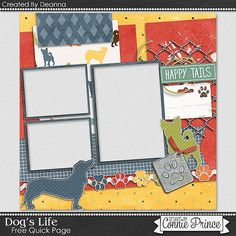 FREE Dog's Life QP : Connie Prince Digital Scrapbooking