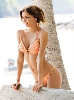 Victoria's Secret Angel Miranda Kerr in a Sexy Orange Bikini