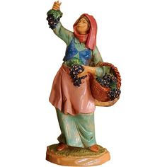 Fontanini Villager Carmi, the Vineyard Worker Measures Includes story card Gift boxed Hand-painted polymer It is harvest time, and Carmi is Special Events, Nativity, Catholic, Vineyard, Disney Characters, Fictional Characters, Hand Painted, Artist, Painting