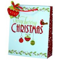 cancer research UK jolly holly medium bag Christmas Gift Bags, Christmas Shopping, Bags 2014, Cancer Research Uk, Foil Stamping, Medium Bags, Presents, Gift Wrapping, Paper