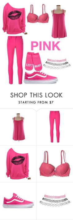 """""""Pink"""" by adriana4-life on Polyvore featuring CAbi, Kenzo, Hollister Co., Vans, Wet Seal and Kate Spade"""