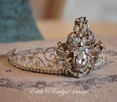 Tiara Crown Rhinestones Small Size Statue Santos by edithandevelyn