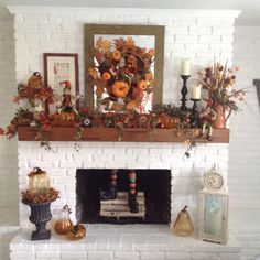 Fall Fireplace Decor, Fall Decorations, Fireplaces, Great Rooms, Thanksgiving, Autumn, Heart, Ideas, Home Decor