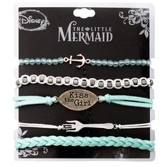The new Little Mermaid bracelet set is now online at Hot Topic-- LITTLE MERMAID AT HOT TOPIC?  WTF KIND OF STORE IS THIS NOW?  ANOTHER VERSION OF THE GAP?  For shame hot topic.  Your 90s self would beat you up.
