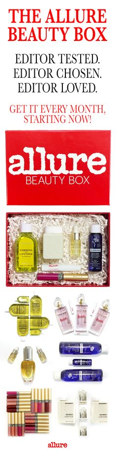 """So, what will you find in your Allure Beauty Box each month? At least five deluxe-size product samples from major brands and innovative newcomers that our editors deem the best of the best. Plus, you'll also get a special-edition """"mini magazine"""" chock full of the most trusted product reviews you've come to expect from Allure. What are you waiting for? Get the Allure Beauty Box, now."""