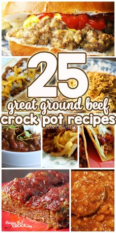 Do you love Ground Beef Crock Pot Recipes as much as I do? Then you are in luck. Here are 25 great ground beef recipes. Crock Pot Food, Crockpot Dishes, Crock Pot Slow Cooker, Beef Dishes, Slow Cooker Recipes, Crock Pot Meatloaf, Ground Beef Slow Cooker, Crock Pot Lasagna, Crockpot Summer Meals