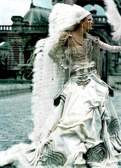 anemonetea:    Maggie Rizer in 'The Life Fantastic' Photographer: Craig McDean Ensemble: Jean Paul Gaultier Haute Couture F/W 2002/03 Vogue US October 2002