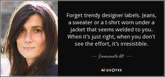 TOP 5 QUOTES BY EMMANUELLE ALT   A-Z Quotes