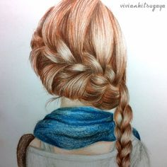 girls art hairs - Google Search