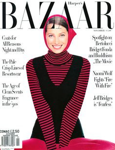 Bazaar November 1993 - Christy Turlington