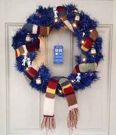 Doctor Who Wreath - I can imagine someone who might want this on our front door!