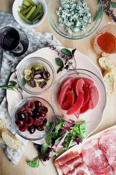This charcuterie salad and wine are a perfect expression of the end of summer. With pickled stone fruit, greens, plenty of hearty cheese and charcuterie, it pairs perfectly with a cellar temperature Beaujolais red wine. Easy Cocktails, Summer Cocktails, Pickled Fruit, Brunch Bar, Charcuterie Plate, Stone Fruit, Beaujolais, Food And Drink, Healthy Eating