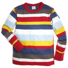Found this shirt...totally reminded me of when I was little and bright stripes like this were IN. Along with moon boots.