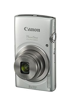 Canon PowerShot ELPH 180 Silver with 200 MP CCD Sensor and 8x Optical Zoom -- Read more  at the image link.