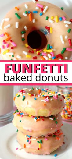 Homemade Baked Donuts, Baked Doughnut Recipes, Easy Donut Recipe, Baked Doughnuts, Homemade Breads, Fun Desserts, Delicious Desserts, Yummy Drinks, Dessert Recipes