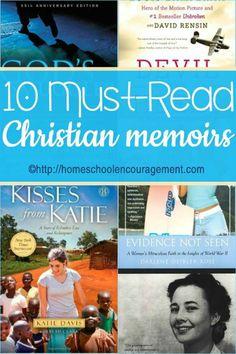 10 Must Read Christian Memoirs from homeschooled teen Samantha Shank.