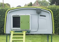 Attaches Directly to the Eglu Cube Chicken To Go, Chicken Runs, Automatic Chicken Coop Door, Dawn And Dusk, Door Opener, Mounting Brackets, Coops, Door Design, All About Time