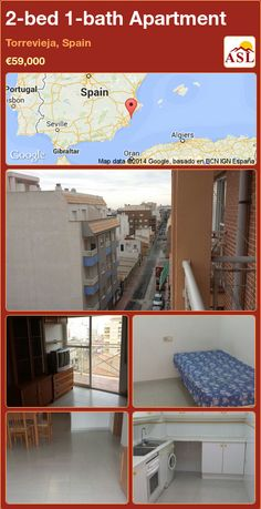 2-bed 1-bath Apartment in Torrevieja, Spain ►€59,000 #PropertyForSaleInSpain