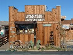 Coyote Corner in Joshua Tree.  Hiking/Climbing/Camping supplies, maps, souvenirs, funky clothes, local made jewerly!, incense, cool soaps, and other awesome things.   I love their hair pins.