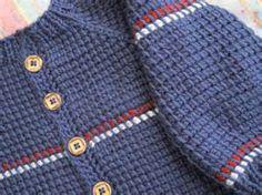 Newborn Crocheted Hooded Sweater Pattern Tunisian
