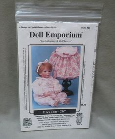 """Breeann 20"""" Doll Emporium pattern DE 431, for doll makers & doll lovers by…"""