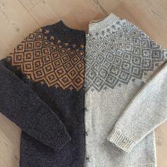 Strikkeopskrift Søster Fie og Søster Line. Flot klassisk sweater / trøje med mønsterstrik i 100% uld, strikket på pind nr. 3. Se mere på: www.hannelarsenstrik.dk Knitting Wool, Fair Isle Knitting, Double Knitting, Baby Knitting, Knitting Patterns, Tapestry Crochet, Knit Crochet, Long Sleeve Sweater, Men Sweater
