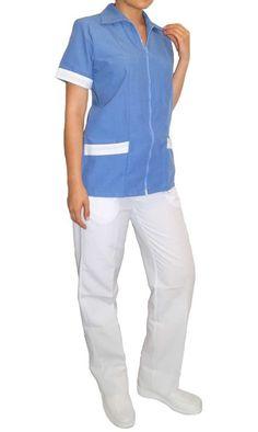 uniforme Conjunto Modelo Cremallera Filipina, Scrubs, Corset, Kitchen Storage, Storage Ideas, Tops, Wellness, Dresses, Women