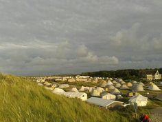 Camping Stortemelk op Vlieland, duin over en je bent op het prachtige strand!