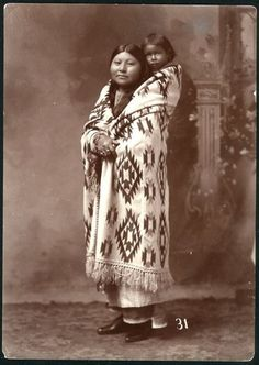 Comanche mother and child