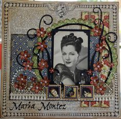 Vintage scrapbook layout--I have a beautiful photoblog my mom for this