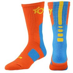 Nike Elite KD Socks (Orange-Yellow-Light Blue)  Owen wants