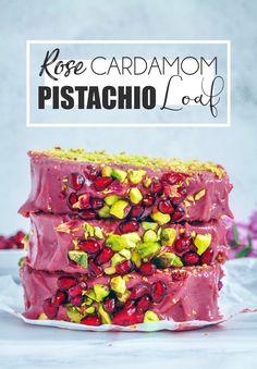 Pistachio Cardamom Rose Loaf (Vegan & Gluten-free) - UK Health Blog - Nadia's Healthy Kitchen