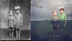 Artist Jane Long Digitally Manipulates Black and White WWI-Era Photos Into Colorful Works of Fantasy