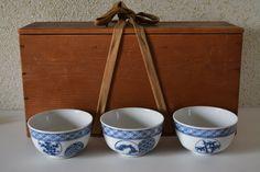 Set of twelve ceramic Japanese tea cups , stamped by StyledinJapan on Etsy