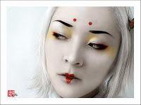 Nat's Geisha Makeup for Halloween?