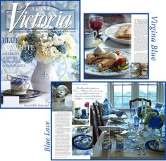 victoria magazine blue & white